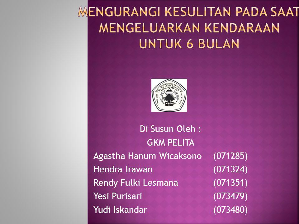 Di Susun Oleh : GKM PELITA Agastha Hanum Wicaksono(071285) Hendra Irawan(071324) Rendy Fulki Lesmana(071351) Yesi Purisari(073479) Yudi Iskandar(073480)
