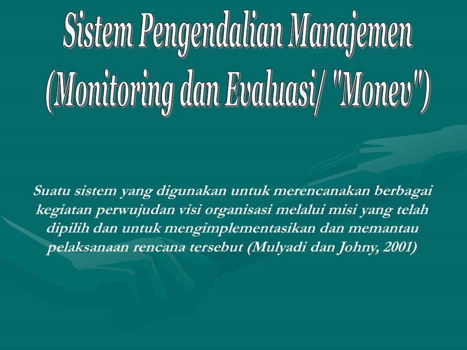 Model Sistem BSC Perspektif Finansial Perspektif Pembelajaran dan Pertumbuhan Perspektif Pelanggan (Stakeholders) Perspektif Proses Bisnis Internal VISI, MISI, TUJUAN dan STRATEGI