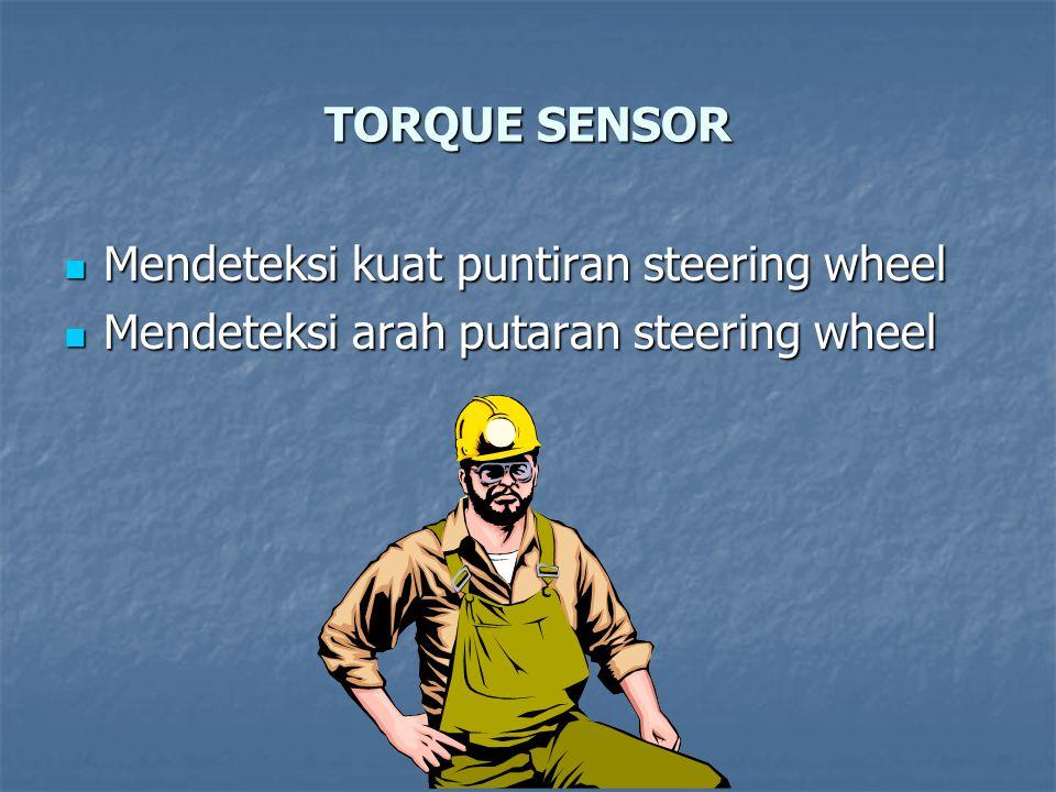 TORQUE SENSOR Mendeteksi kuat puntiran steering wheel Mendeteksi kuat puntiran steering wheel Mendeteksi arah putaran steering wheel Mendeteksi arah putaran steering wheel