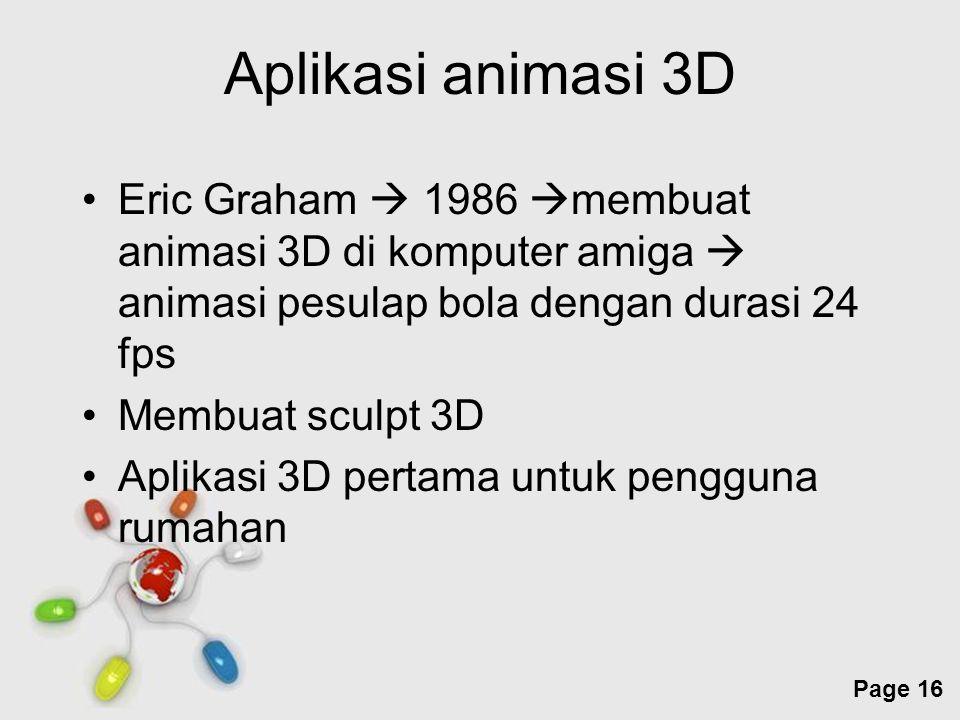 Free Powerpoint Templates Page 16 Aplikasi animasi 3D Eric Graham  1986  membuat animasi 3D di komputer amiga  animasi pesulap bola dengan durasi 2