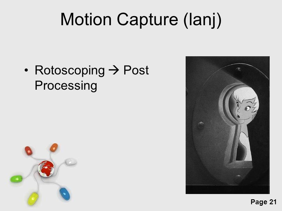 Free Powerpoint Templates Page 21 Motion Capture (lanj) Rotoscoping  Post Processing