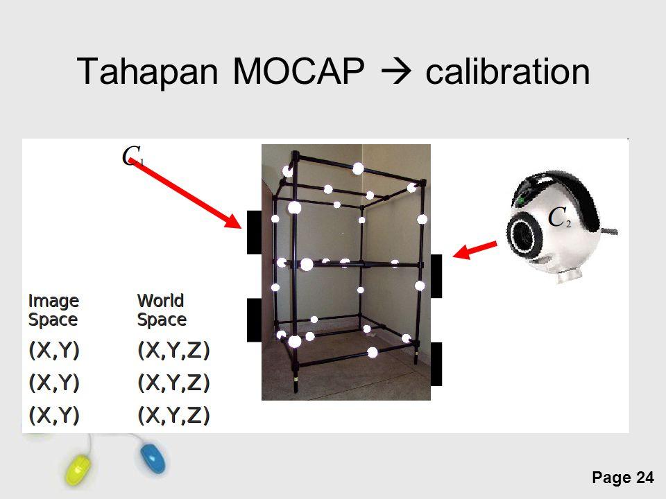 Free Powerpoint Templates Page 24 Tahapan MOCAP  calibration