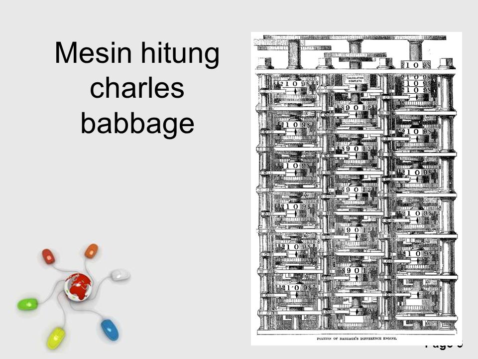 Free Powerpoint Templates Page 3 Mesin hitung charles babbage