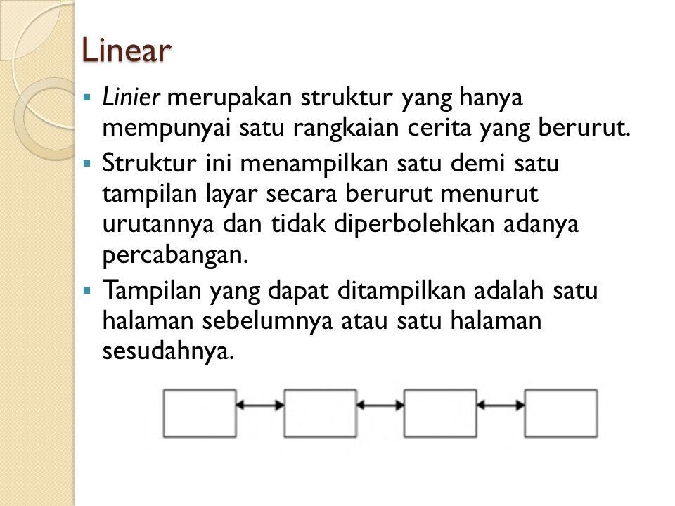 Hirarki Struktur hirarki merupakan suatu struktur yang mengandalkan percabangan untuk menampilkan data berdasarkan kriteria tertentu.