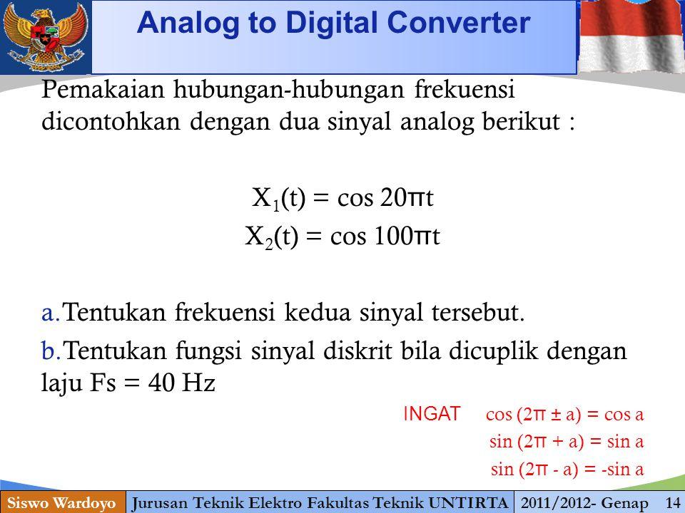 www.themegallery.com Analog to Digital Converter Siswo WardoyoJurusan Teknik Elektro Fakultas Teknik UNTIRTA2011/2012- Genap 14 Pemakaian hubungan-hub