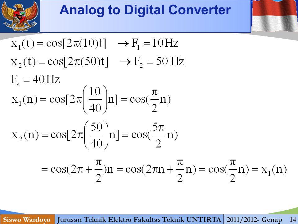www.themegallery.com Analog to Digital Converter Siswo WardoyoJurusan Teknik Elektro Fakultas Teknik UNTIRTA2011/2012- Genap 14