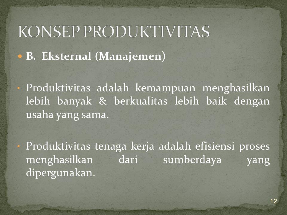 """Jadi, """"Untuk meningkatkan produktivitas kerja karyawan, yang terpenting adalah adanya kecocokan antara kontribusi jasa dan perlakuan yang diterima dar"""