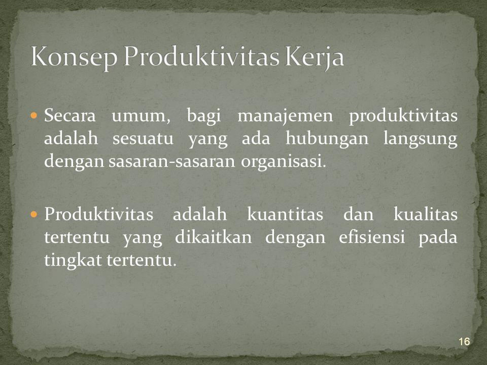 1.Pengukuran atas setiap keluaran (output) yang menghasilkan keuntungan ekonomis tinggi. 2.Pengadaan sistem umpan balik (informasi) yang efektif sehin