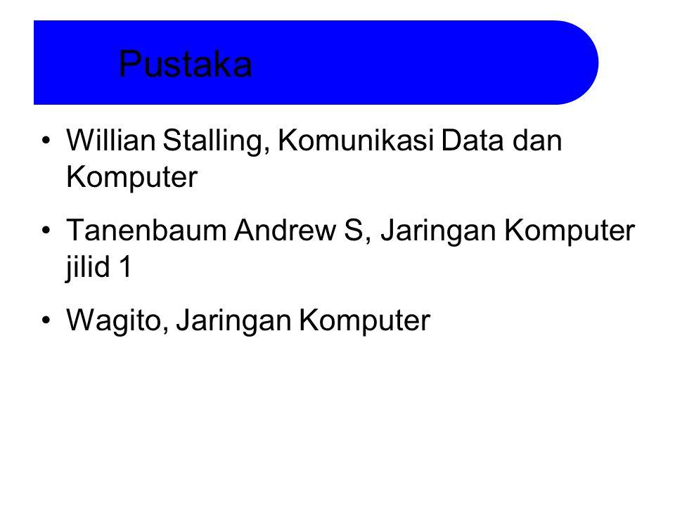Willian Stalling, Komunikasi Data dan Komputer Tanenbaum Andrew S, Jaringan Komputer jilid 1 Wagito, Jaringan Komputer Pustaka