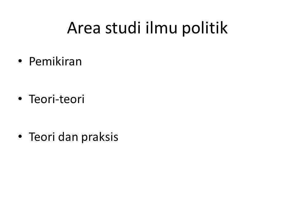Area studi ilmu politik Pemikiran Teori-teori Teori dan praksis