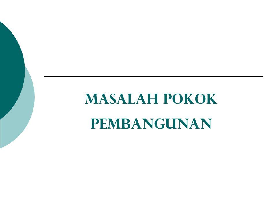 MASALAH POKOK PEMBANGUNAN