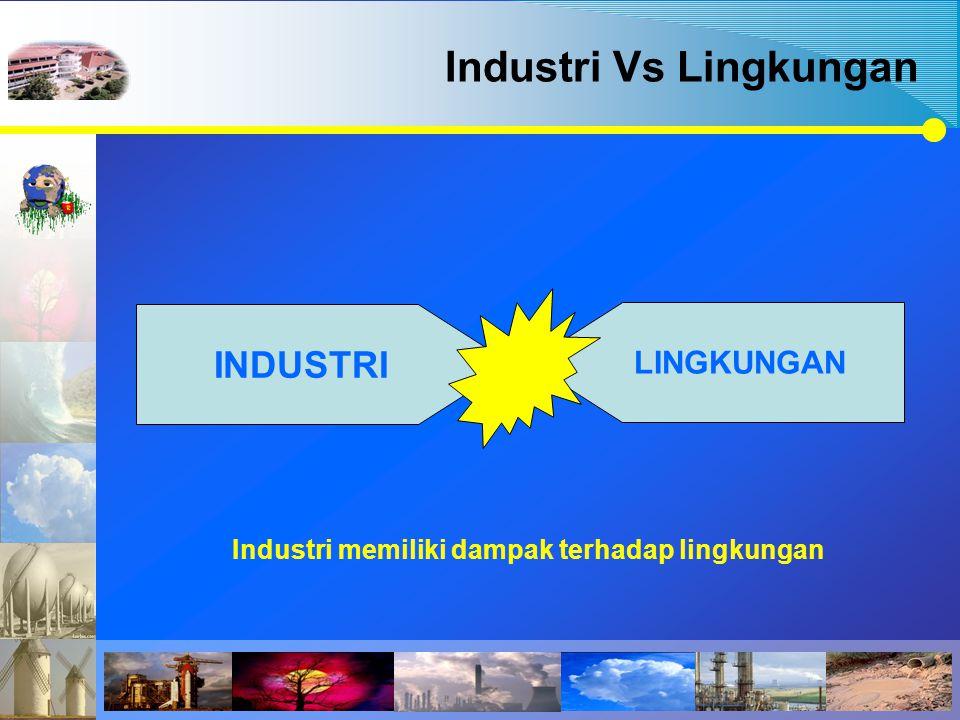 Industri Vs Lingkungan INDUSTRI LINGKUNGAN Industri memiliki dampak terhadap lingkungan