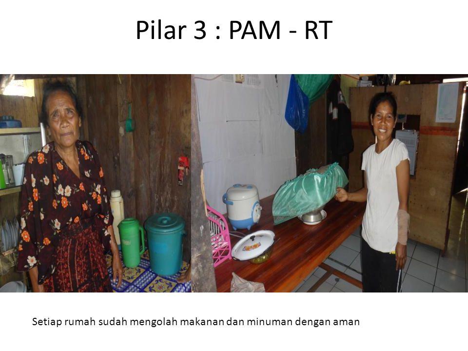 Pilar 3 : PAM - RT Setiap rumah sudah mengolah makanan dan minuman dengan aman