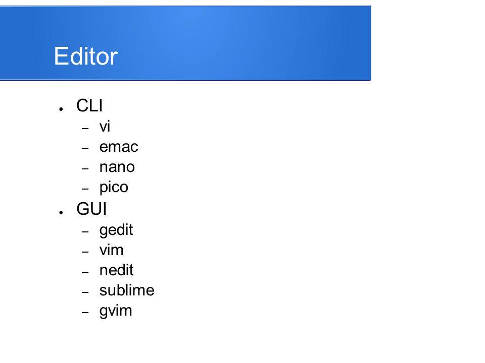 vi Editor ● Singkatan dari: visual editor ● Ada pada hampir semua UNIX system – Awalnya vi bagian dari BSD Unix – Dibuat oleh Bill Joy tahun 1976 – Memiliki banyak turunan (peningkatan versi) – open source vim (vi yang ditingkatkan), bagian dari GNU/Linux ● vi memiliki 3 mode operasi: – input mode – command mode – last-line mode
