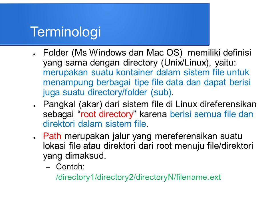 PATH PENJELASAN /Mereferensikan direktori root.