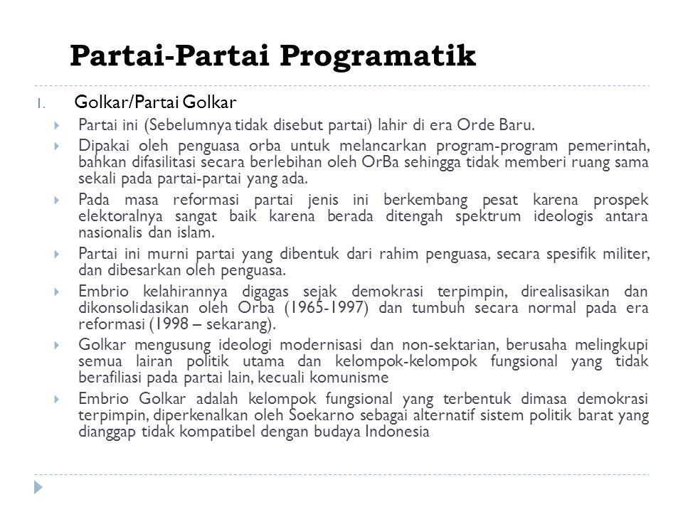 Partai-Partai Programatik 1.