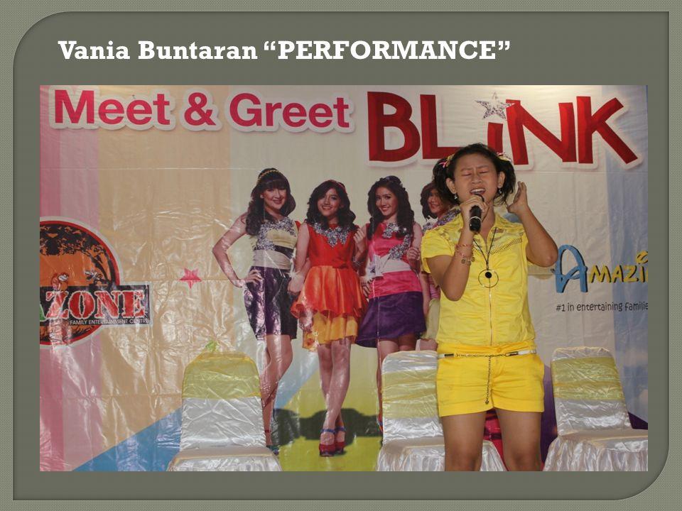 "Vania Buntaran ""PERFORMANCE"""