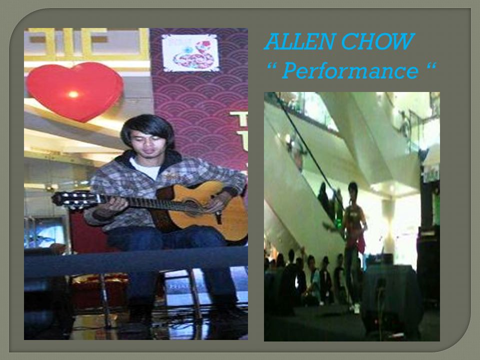 "ALLEN CHOW "" Performance """