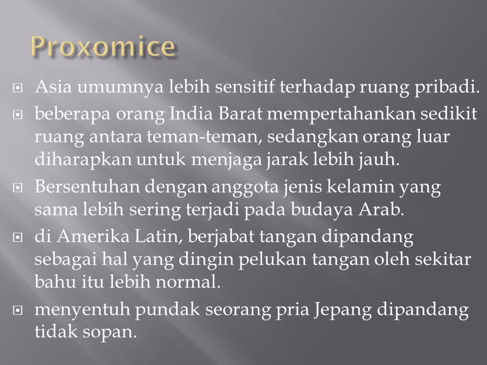  Asia umumnya lebih sensitif terhadap ruang pribadi.