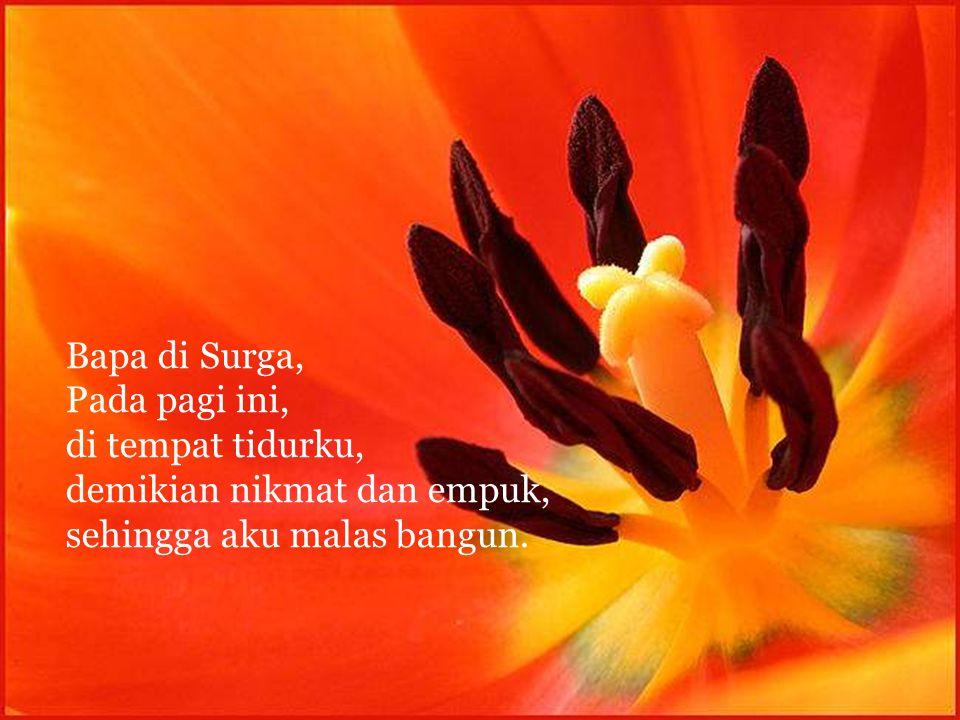 Bapa, aku mohon, berkatilah kawan-kawanku, Keluargaku, kenalanku dan para sahabatku. Perlihatkanlah kasih-Mu dan kebesaran-Mu.