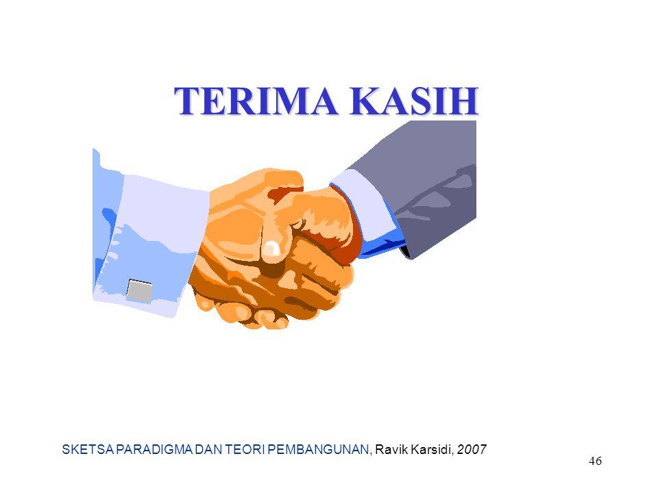 SKETSA PARADIGMA DAN TEORI PEMBANGUNAN, Ravik Karsidi, 2007 46 TERIMA KASIH
