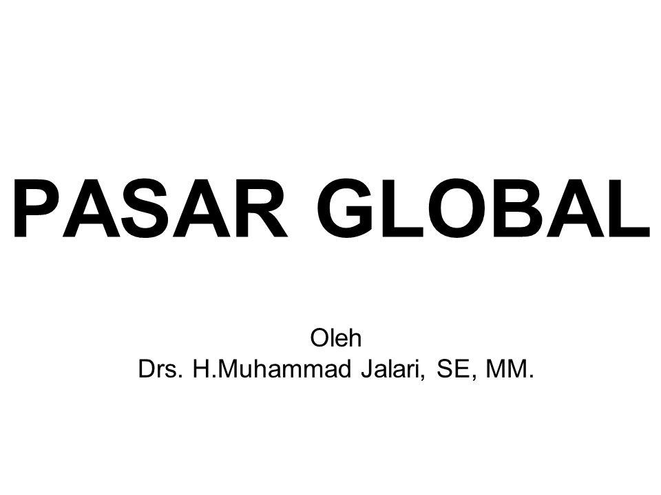 PASAR GLOBAL Oleh Drs. H.Muhammad Jalari, SE, MM.