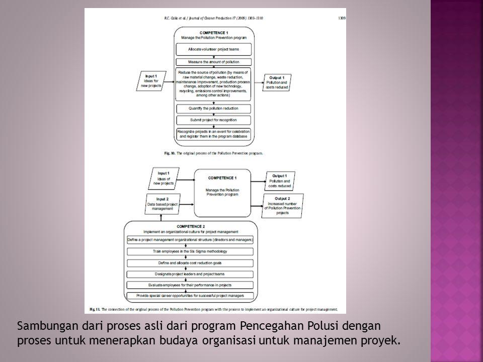 Sambungan dari proses asli dari program Pencegahan Polusi dengan proses untuk menerapkan budaya organisasi untuk manajemen proyek.