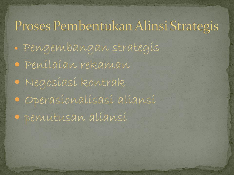 Pemikiran mendalam tentang struktur dan rincian bagaimana aliansi akan dikelola dan perlu mempertimbangkan beberapa hal perencanaan proses aliansi.