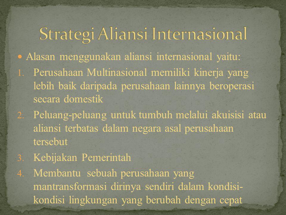 Aliansi Komplementer Strategi Pengurangan Persaingan Strategi Tanggapan Persaiangan Strategi Pengurangan Ketidakpastian Stategi Aliansi Tingkat Perusahaan Dirancang untuk memfasilitasi diversifikasi pasar atau produk: 1.