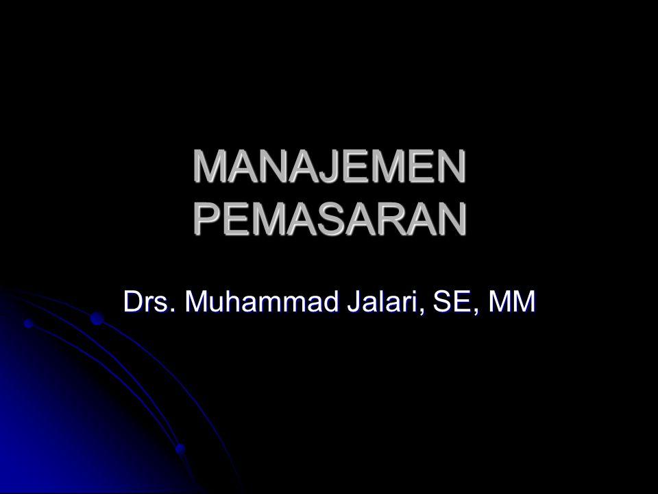 MANAJEMEN PEMASARAN Drs. Muhammad Jalari, SE, MM