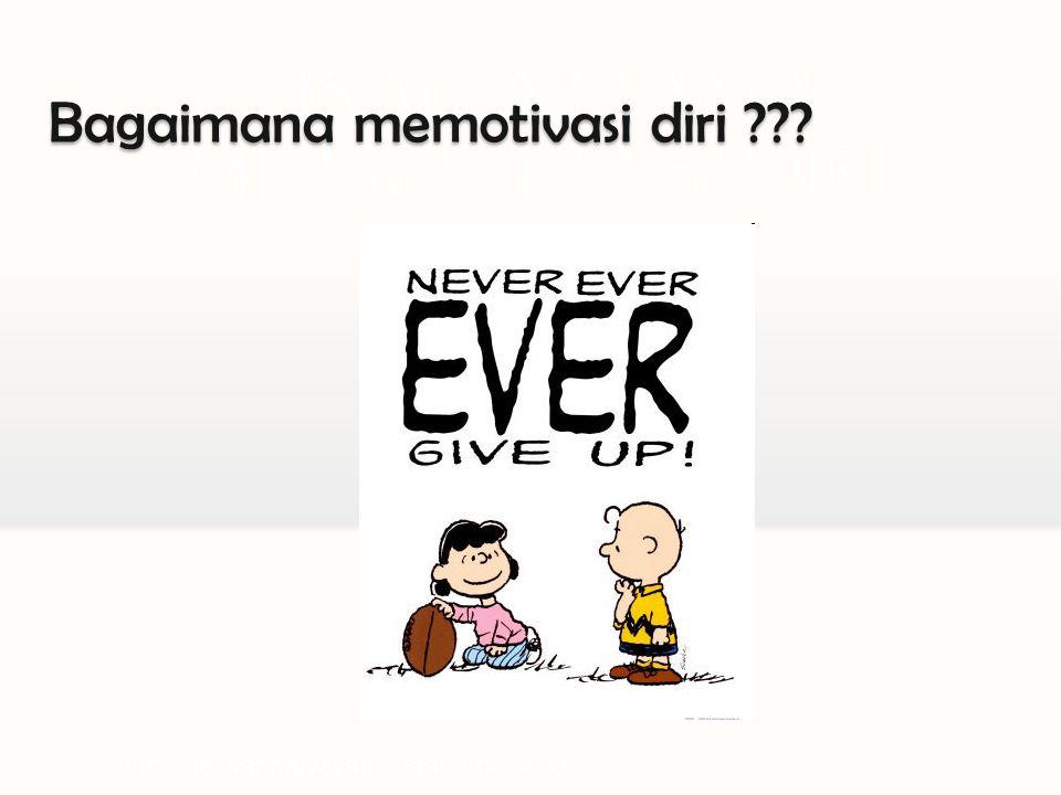 BAGAIMANA MEMOTIVASI DIRI ? http://herwanparwiyanto.staff.uns.ac.id11 Bagaimana memotivasi diri ???