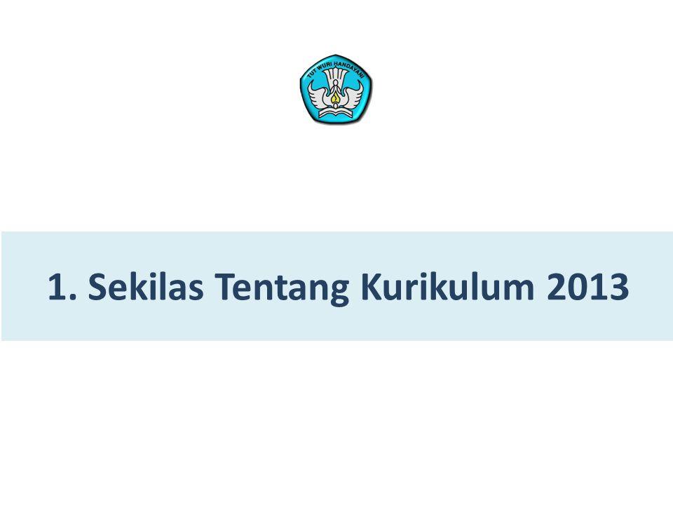 1. Sekilas Tentang Kurikulum 2013