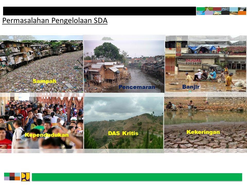 Permasalahan Pengelolaan SDA Banjir Pencemaran Kependudukan DAS Kritis Kekeringan Sampah