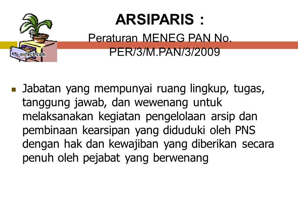 ARSIPARIS : Peraturan MENEG PAN No.