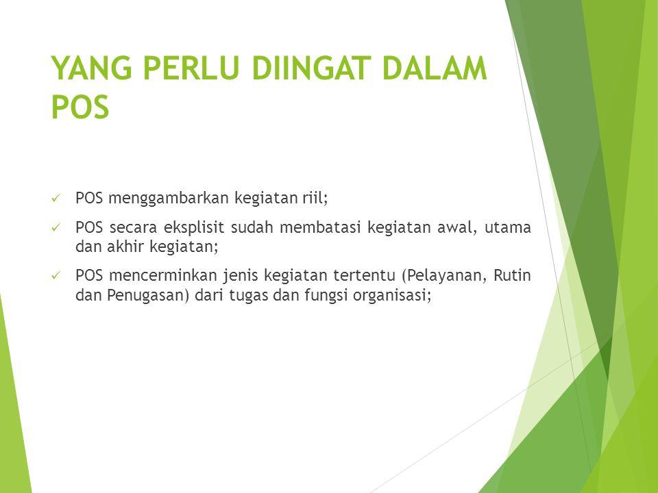 POS DAN TUGAS-FUNGSI Secara umum Tugas dan Fungsi Instansi Pemerintah meliputi : 1.