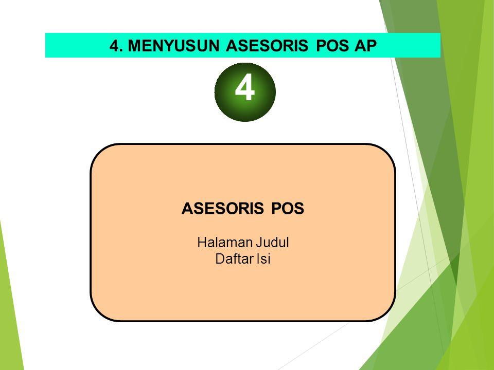 4. MENYUSUN ASESORIS POS AP ASESORIS POS Halaman Judul Daftar Isi 4