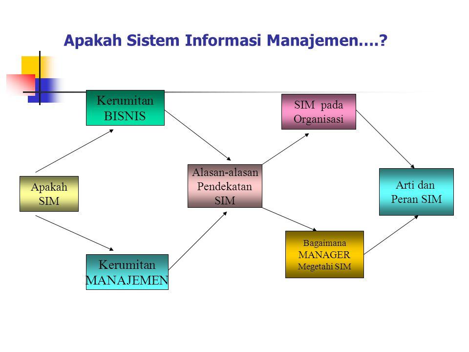 Definisi ; Sistem Informasi Manajemen Suatu cara untuk mengelola pekerjaan informasi dengan menggunakan pendekatan sistem yang berdasarkan pada prinsi