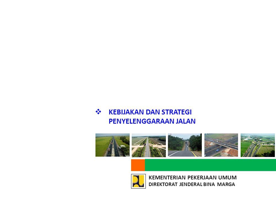 KEMENTERIAN PEKERJAAN UMUM DIREKTORAT JENDERAL BINA MARGA PEMBINAAN JALAN DAERAH  Salah satu misi dalam RENSTRA Ditjen Bina Marga 2010-2014 ialah Memfasilitasi agar kapasitas Pemerintah Daerah meningkat dalam menyelenggarakan jalan daerah yang berkelanjutan dengan mobilitas, aksesibilitas dan keselamatan yang memadai .