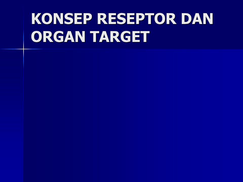 KONSEP RESEPTOR DAN ORGAN TARGET
