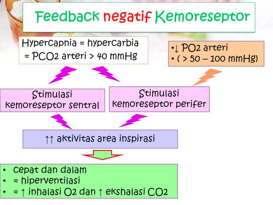 ↑ PCO2 = ↑ H+ CO2 brsifat lipid soluble, mudah berdifusi ke dalam sel Enzim carbonic anhidrase tersedia di dalam sel Hypercapnia = hypercarbia = PCO2