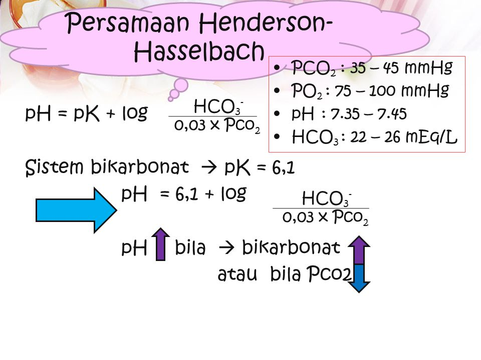 Nilai normal Apakah yang dimaksud dengan asidosis / alkalosis? Apakah perbedaan asidosis metabolik dg asidosis respiratorik??