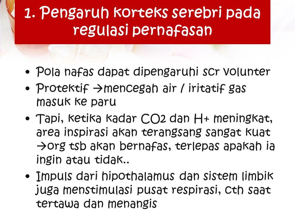 Respiratory & exercise Perubahan pd exercise sedang disebabkan perubahan kimiawi dan fisik pd aliran darah, yaitu : (1) ↓ PO2  sebab meningkatnya konsumsi O2 jaringan (2) ↑ PCO2 disebabkan meningkatkan produksi oleh jaringan (3) ↑ temperatur