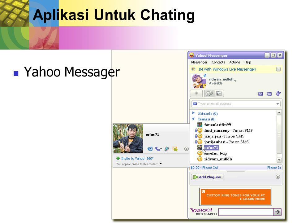Aplikasi Untuk Chating Yahoo Messager