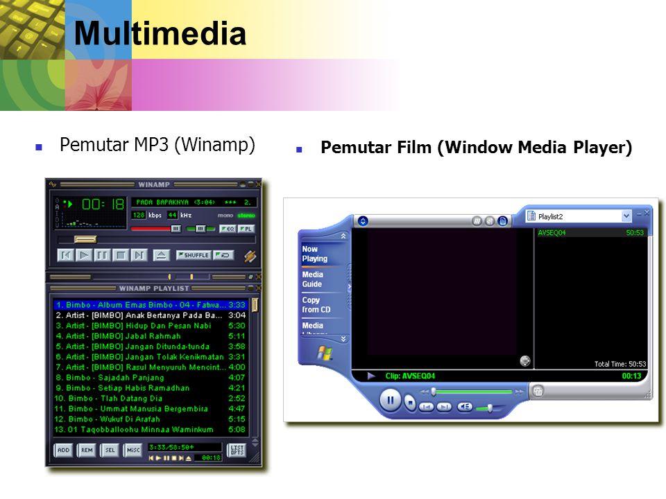 Multimedia Pemutar MP3 (Winamp) Pemutar Film (Window Media Player)