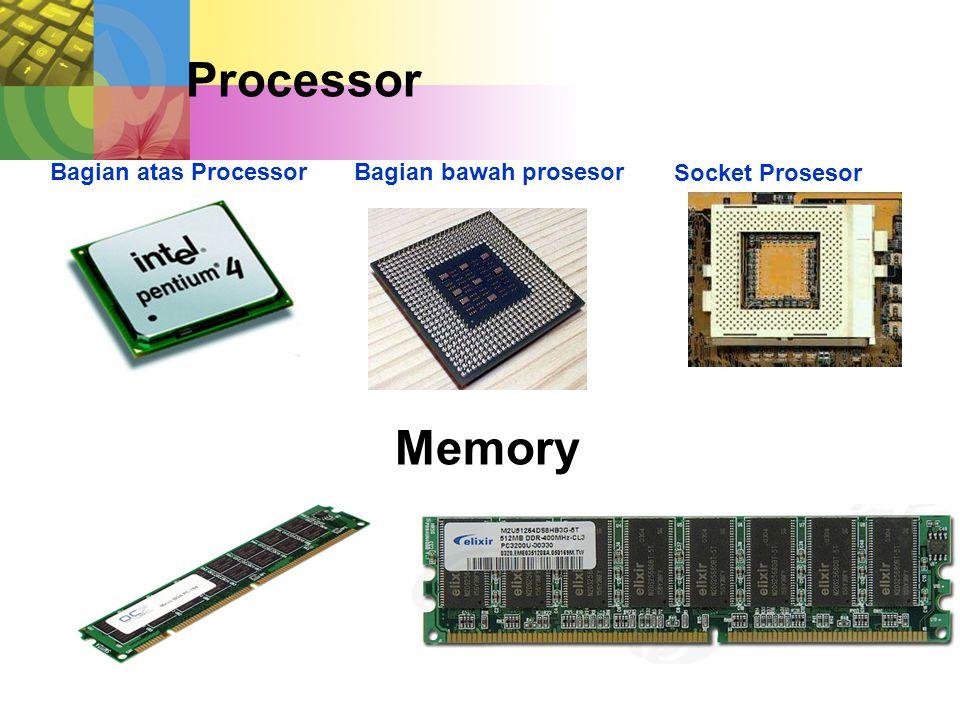 Bagian atas ProcessorBagian bawah prosesor Socket Prosesor Processor Memory
