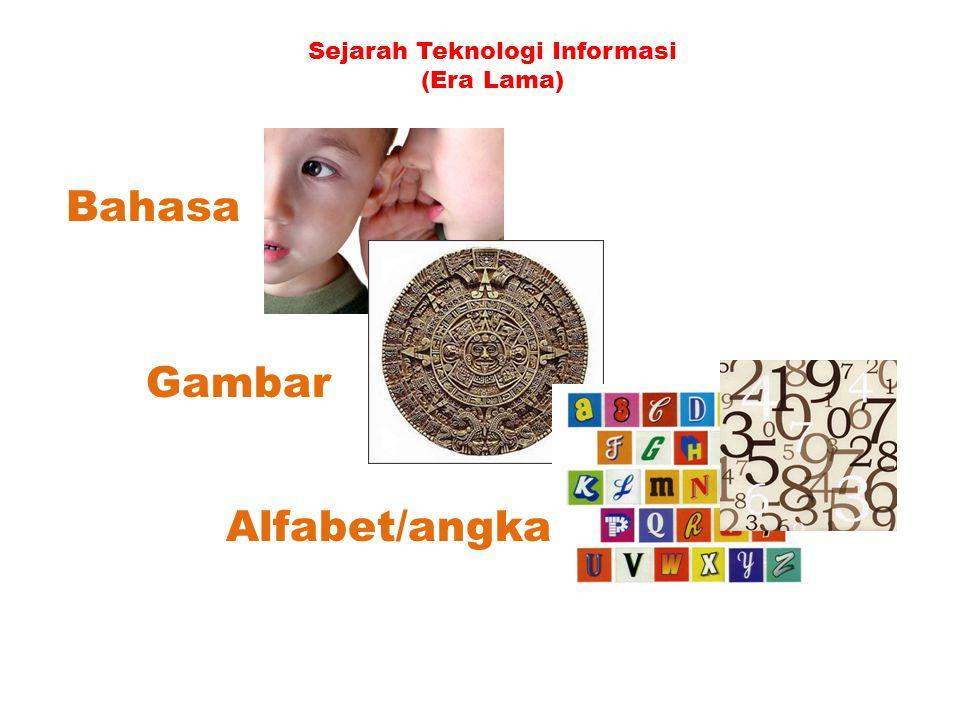 Sejarah Teknologi Informasi (Era Lama) Bahasa Gambar Alfabet/angka
