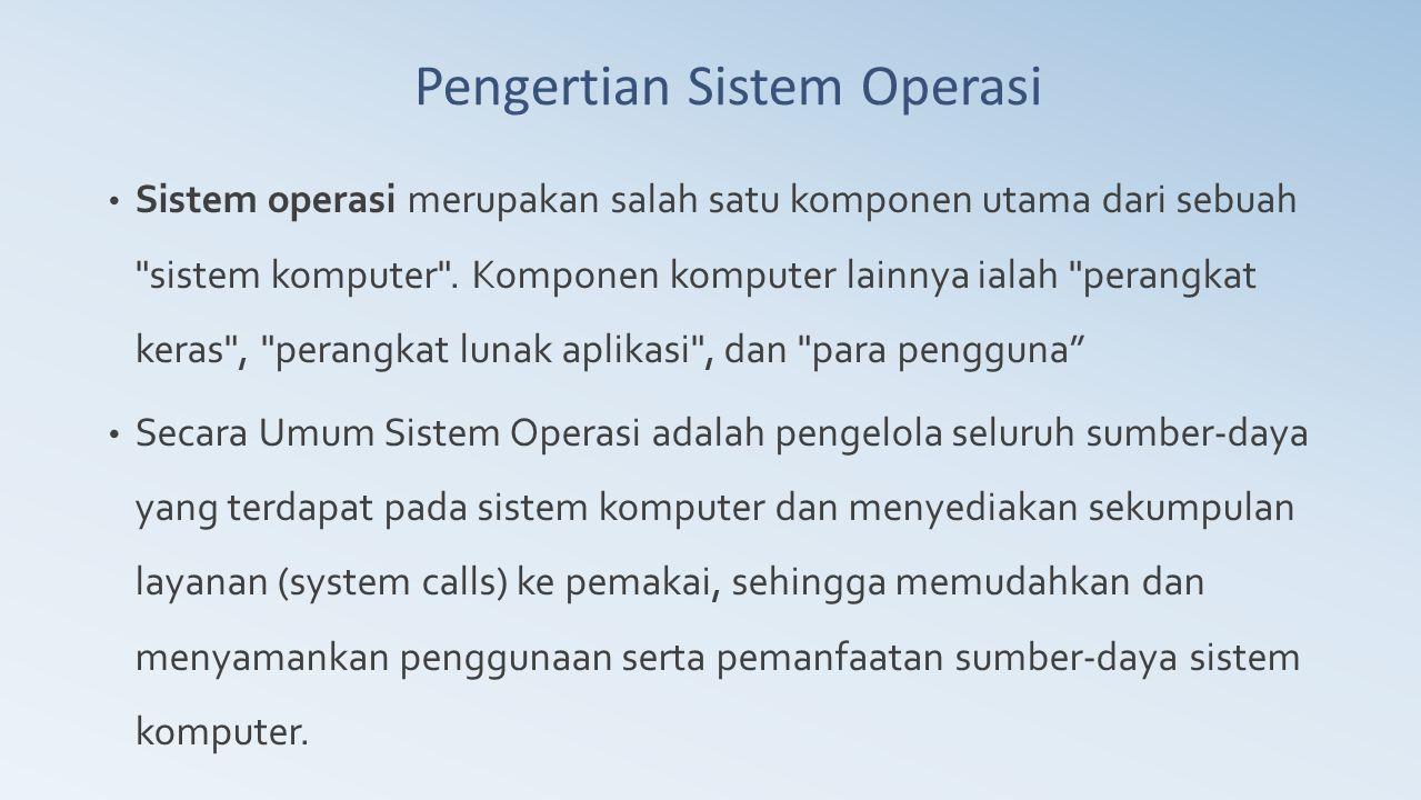  Konsep : Sistem operasi sebagai kumpulan prosedur dimana prosedur dapat saling dipanggil oleh prosedur lain di sistem bila diperlukan .