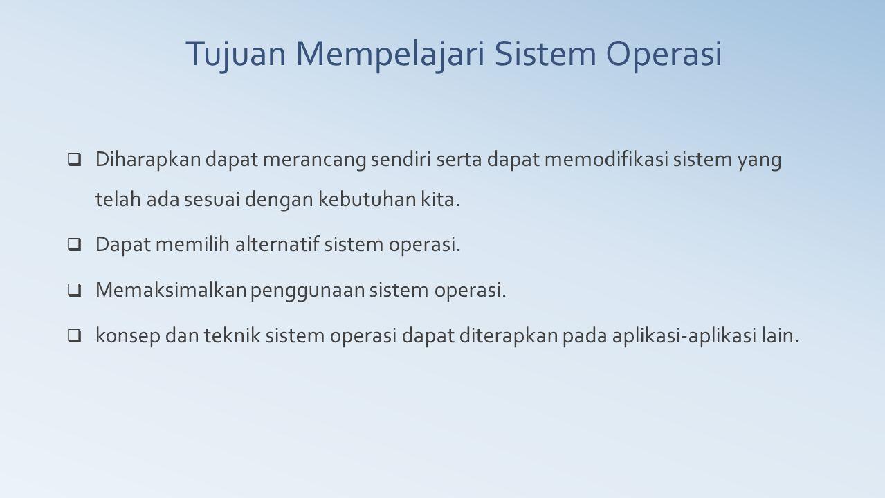 Sasaran utama Sistem operasi yaitu  Kenyamanan -- membuat penggunaan komputer menjadi lebih nyaman.