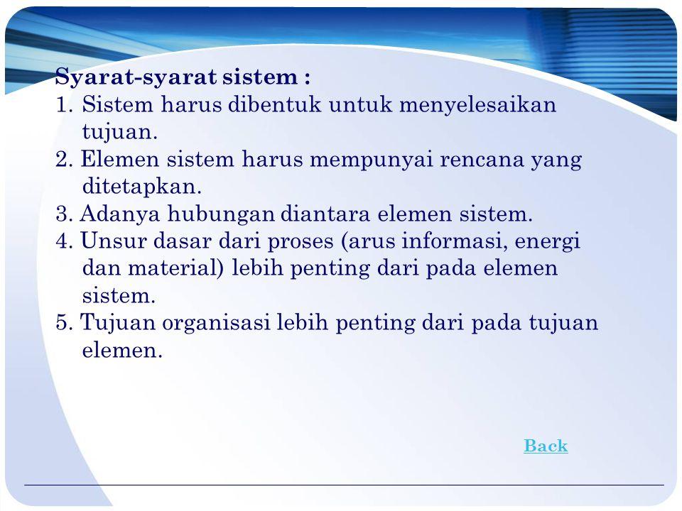 2. KARAKTERISTIK SISTEM Karakteristik sistem digambarkan sebagai berikut :