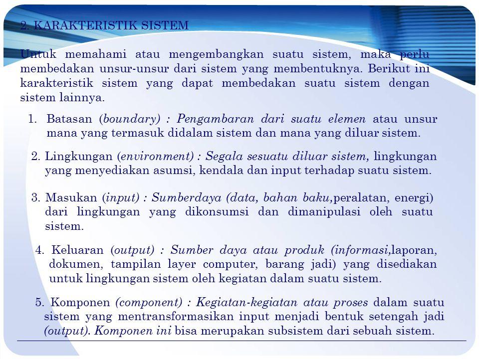 6.ANALISIS DAN DESAIN SISTEM Analisis sistem sangat bergantung pada teori sistem umum sebagai sebuah landasan konseptual.